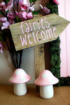 Fairy Party Fairies Welcome Sign With Mushrooms