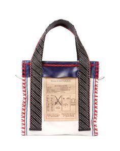Balenciaga Scaffold Leather Tote Bag, Multi In White Balenciaga Tote, Balenciaga Handbags, Leather Purses, Leather Handbags, Leather Bags, Sacs Design, Bags 2017, Fabric Bags, Womens Tote Bags