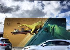 Wes21 and ONUR mural at #artbasel #art in Miami, USA #streetart