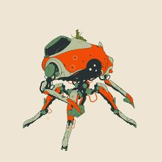 Unused Miner-Bot concepts 2014. Heavily inspired by the soldier robots from Ghibli's Laputa. A few variations and other 'family' members. By Calum Alexander Watt.