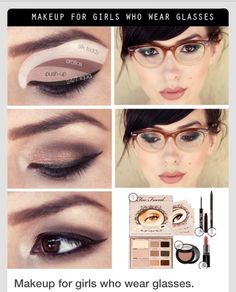 Eye makeup for.girls who wear Glasses :)