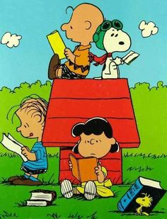 The Peanuts gang knows about the importance of reading.