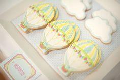 Hot Air Balloon & Cloud Cookies. AMAZING.