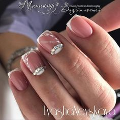 Important Things You Should Know About Acrylic Nails – NaiLovely Sexy Nail Art, Sexy Nails, Swarovski Nails, Rhinestone Nails, Bride Nails, Wedding Nails, French Nails, Nagel Bling, Bridal Nail Art