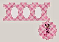 Minnie Rosa: Mini Stands para Cupcakes, para Imprimir Gratis.