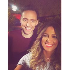"""""""My filters can make anyone tan!!! The divine Tom Hiddleston and I chat @kongskullislandmovie which is bananas!! . But he gives me a  about the upcoming #thorragnarok movie- check out my twitter and also @fandango 's kick butt managing editor @thisiserikdavis for the vid!"""" (https://www.instagram.com/p/BQtIU0JArQf/ )"""
