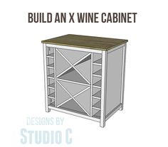DIY Wine Cabinet Plans for Functional and Stylish Storage Do you have a collection of wine? I have the perfect DIY wine cabinet plans! This gorgeous cabinet features six cubbies on either side of t… Shoe Storage Pallet, Wine Storage, Record Storage, Diy Furniture Plans, Furniture Projects, Armoires Diy, Wine Rack Plans, Diy Storage Cabinets, Wine Rack Cabinet