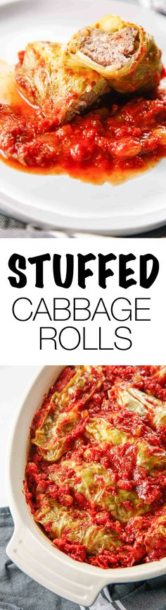 Nothing reminds me of home quite like Polish food. These Old Fashioned Polish Stuffed Cabbage remind me of the Galumpki we used to get from the Polish markets in upstate New York when I was a kid. These are perfect for a filling meal in winter! Via @thebrooklyncook #cabbage #dinner #winter #dinnerrecipes