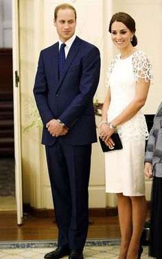 Kate dipped her toe in a previously unknown fashion pool at Yarralumla's Government House reception. The white cocktail dress by Texas-born designer Lela Rose was a welcome change to the coats that have littered the Australian tour.
