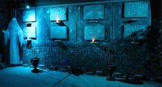 garage door mausoleum for 2015 done! (October Pun'kin aka punkineater on Halloween Forum)