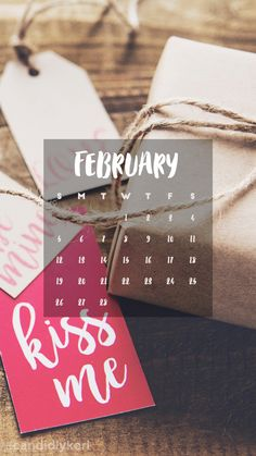 """""""kiss me"""" """"Be mine"""" valentines day wrapping paper February calendar 2017 wallpaper you can download for free on the blog! For any device; mobile, desktop, iphone, android!"""