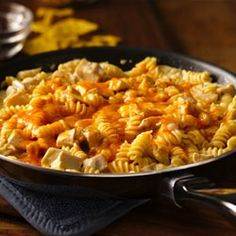 Cheesy Southwest Chicken Skillet Allrecipes.com  -- This was a quick, easy, and tasty weeknight meal!