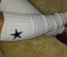 Dallas Cowboys Leg Warmers Boot Socks Embroidered by ItsPeachyKeen