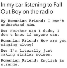 I'm don't even listen to Fall Out Boy, but I still find this extremely funny Funny Cute, The Funny, Hilarious, Funny Laugh, Fall Out Boy, Superwholock, Percy Jackson, Memes, Haha