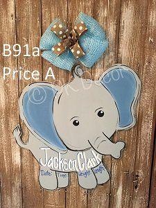 Baby Door Hangers Boy Birth Announcements