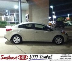 Thank you to David Swim Ford on your new 2014 #Kia #Forte from Reed  Chenault and everyone at Southwest Kia Mesquite! #NewCarSmell