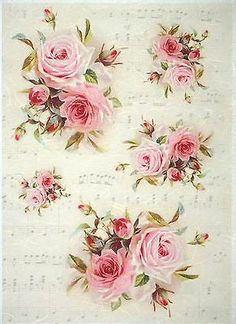 Rice Paper for Decoupage, Scrapbook Sheet, Craft Vintage Red Roses is part of Paper crafts Vintage - Decoupage Vintage, Decoupage Art, Vintage Diy, Vintage Ephemera, Vintage Cards, Vintage Paper, Shabby Vintage, Decoupage Tissue Paper, Tissue Paper Crafts