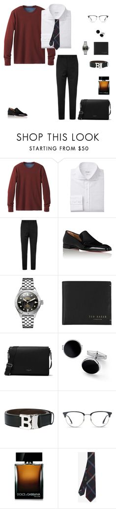 """Untitled #838"" by r783x ❤ liked on Polyvore featuring prAna, Sandro, Christian Louboutin, Vivienne Westwood, Ted Baker, Michael Kors, Blue Nile, Bally, Ray-Ban and Dolce&Gabbana"