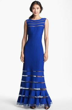 Were it not $400...Tadashi Shoji Jersey Illusion Gown available at #Nordstrom