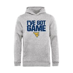 West Virginia Mountaineers Youth Got Game Pullover Hoodie - Ash - $34.99