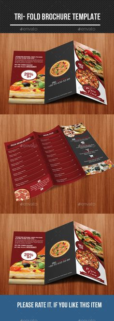 menu trifold