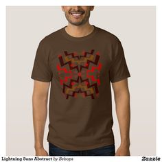 Lightning Suns Abstract T-shirts