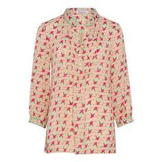 Chloe Top - Flying Flamingo Print - Hot Pink  | Libelula | Wolf & Badger  /  Women / Clothing / Tops