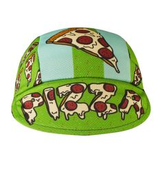 Gifts for Cyclists Men - Pizza Rulez Cycling Cap - Made in the USA Wall Mount Rack, Cycling Outfit, Caps Hats, Baseball Hats, Bike, Cyclists, How To Make, Pizza, Gifts