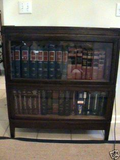 Vintage Antique Macey 713 Barrister Attorney Lawyer Bookcase Finish 55 2 Stack | eBay