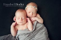 Inspiration For New Born Baby Photography : newborn photography boy girl twins