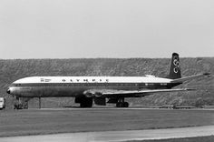 Olympic Airways De Havilland DH-106 Comet 4B (Queen Sophia) [SX-DAN] Olympic Airlines, Queen Sophia, Jet Plane, Airplane, Olympics, Dan, Aviation, Aircraft, Plane