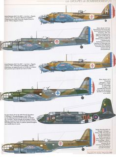 """The French Air Force Of The """"Armistice"""" 1940 To 1942. Bombers"""