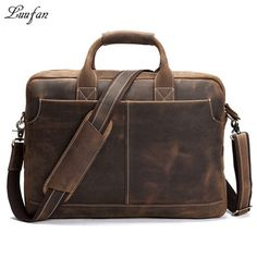 Cheap leather briefcase, Buy Quality leather business briefcase directly from China briefcase business Suppliers: Vintage Men's Genuine Leather briefcase 16 inch Big Business Handbag Cowhide Laptop Handbag briefcase messenger bag fast post Vintage Leather Messenger Bag, Leather Backpack Purse, Leather Duffle Bag, Leather Laptop Bag, Messenger Bag Men, Leather Briefcase, Leather Shoulder Bag, Leather Wallet, Shoulder Strap