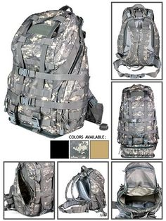 Large 3 Day Expanding MOLLE Tactical Backpack Bug Out Bag New ACU Camo NcStar | eBay