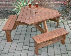 DELUXE BERMUDA 6 SEAT BENCH TABLE | I want a beer garden in my backyard!