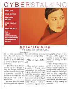 Cyberstalking Article and Tip Sheet | Vicki Hinze  http://vickihinze.com/my-kitchen-table/cyberstalking-article-and-tip-sheet/