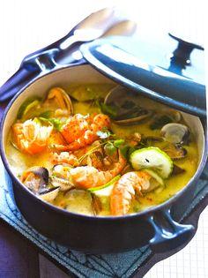 Soupe de coquillage, légumes nouveaux & vanille  Finistère Bretagne