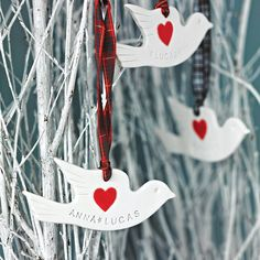 Personalised Porcelain Dove Decoration
