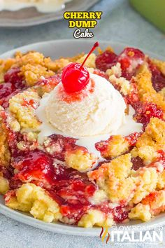 Cherry Dump Cake is very easy to make with few ingredients, ready in 50 minutes,. Cherry Dump Cake is very easy to make with few ingredients, ready in 50 minutes, and loaded with delicious cherry pie filling! Dump Cake Recipes, Baking Recipes, Dessert Recipes, Easy No Bake Desserts, Delicious Desserts, Cherry Desserts, Cherry Recipes, Top Recipes, Recipies