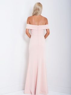 Aria Off-Shoulder Formal Dress Bariano B20D24 Back