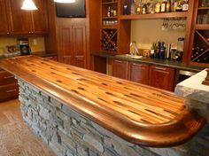 Stellar Copper Basement Bar Top