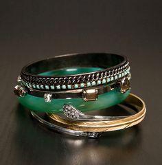 LOVE this twist on the classic jade bracelet look!