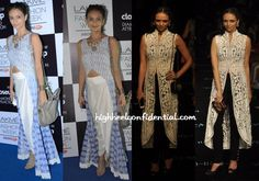 Roshni did separates on both day three and four of LFW wearing her own design on Friday and Pankaj and Nidhi on Saturday.