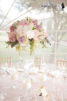 pink Beautiful wedding centerpieces