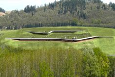 This architecturally unique winery is making maximum use of its land by planting vines on its roof