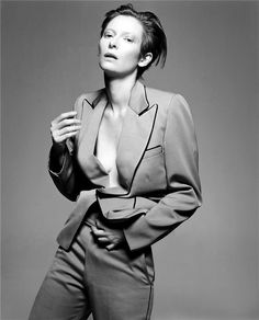 Tilda Swinton as Inspiration for #Casadei #Fluid Collection.