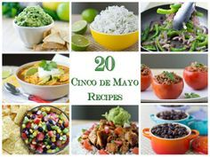 20 Cinco de Mayo Recipes to inspire your menu: Appetizers, soups, salads, side dishes, entrees, and more! | Culinary Hill | #CincoDeMayo