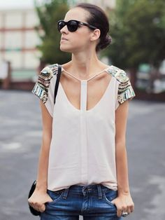 sequin shoulders / DIY inspo