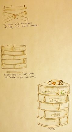 lazy susan shoe rack (please make me!)