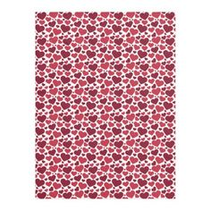 Cute Red Hearts Pattern Fleece Blanket #valentinesday #gifts
